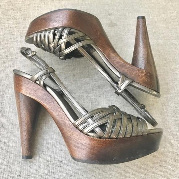 6b1c0cf62414 MIU MIU PRADA heels sandals CLOGS Platform leather